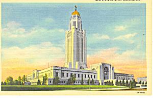 Lincoln,NE, State Capitol Postcard (Image1)