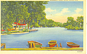 Grand Island,NE, Schimmers Lake Postcard 1946 (Image1)