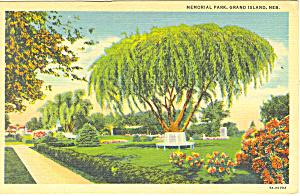 Grand Island,NE, Memorial Park Postcard (Image1)