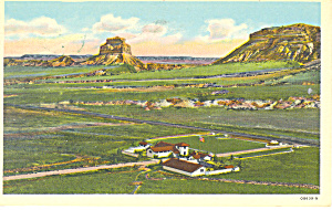 Museum and Dome Rock,Scotts Bluff  NE, Postcard 1953 (Image1)