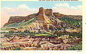 Bad Lands and,Scotts Bluff  NE, Postcard (Image1)