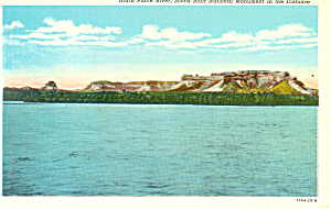 North Platte River,Scotts Bluff  NE, Postcard (Image1)
