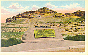 Mitchell Pass Monument,Scotts Bluff  NE, Postcard (Image1)