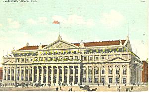 Auditorium, Omaha , NE, Postcard 1909 (Image1)