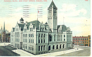 Federal Building, Omaha , NE, Postcard 1907 (Image1)