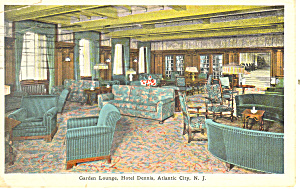 Lounge Hotel Dennis Atlantic City NJ Postcard p15587 1931 (Image1)