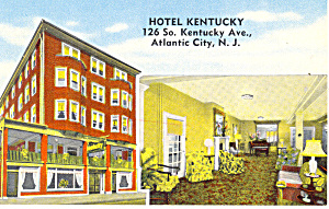 Hotel Kentucky Atlantic City  NJ Postcard p15589 (Image1)