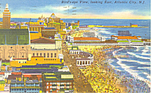 Air View,Atlantic City, NJ Postcard 1960s (Image1)