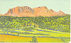 Hermits Peak Santa Fe Trail Nm Postcard P15662 1955