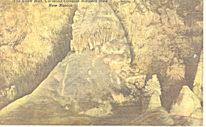 The Cave Man, Carlsbad Caverns, NM  Postcard 1956 (Image1)