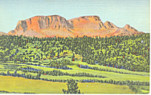 Hermits Peak Santa Fe Trail Nm Postcard P15685