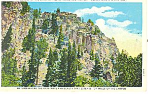 Palisades of the Cimarron Raton NM  Postcard p15696 (Image1)