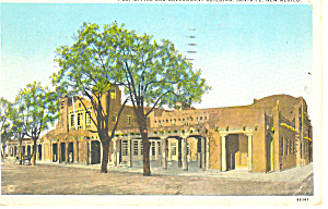 Post Office Santa Fe Nm Postcard P15706 1928