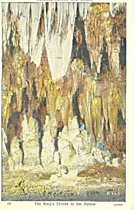 Kings Throne, Carlsbad Caverns NM  Postcard 1960 (Image1)