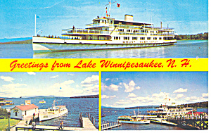 Boats of Lake Winnipesaukee Postcard p15713 1976 (Image1)