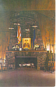 Fireplace,Cathedral of the Pines ,Rindge,NH Postcard (Image1)