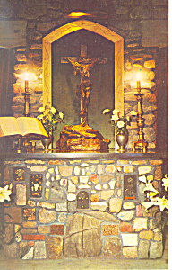 Chaplins Altar,Cathedral of the Pines ,Rindge,NH Postca (Image1)