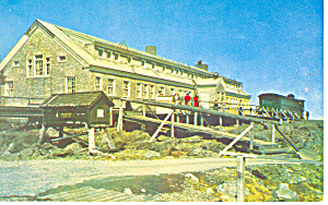 Mt Washington NH Summit House Hotel Postcard p15744 (Image1)