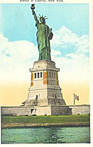 Statue of Liberty New York Harbor  Postcard p15797 (Image1)