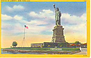 Statue of Liberty New York  Postcard p15798 (Image1)