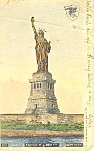 Statue of Liberty New York Harbor  Postcard p15800 1904 (Image1)