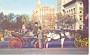 Carriages 59th St New York City NY  Postcard p15801 (Image1)