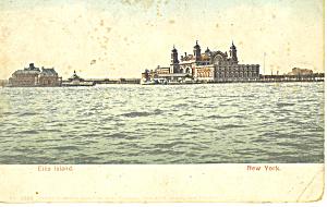 Ellis Island, ew York Harbor NY  Postcard p15810 (Image1)