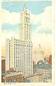 Woolworth Bldg,New York City, NY  Postcard 1925 (Image1)