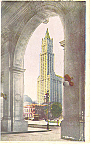Woolworth Bldg,New York City, NY  Postcard 1919 (Image1)