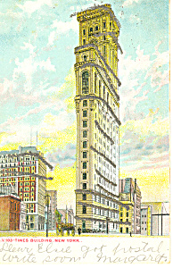 Times Bldg,New York City, NY  Postcard 1906 (Image1)