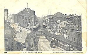 Cooper Square New York City NY  Postcard p15830 (Image1)