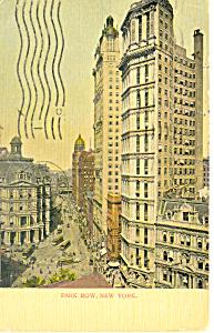 Park Row New York City NY  Postcard p15831 1905 (Image1)