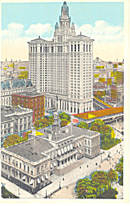 Municipal Bldg New York City NY  Postcard p15840 (Image1)