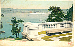 Hudson River From Riverside Drive NY  Postcard p15849 (Image1)