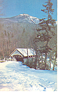Old Covered Bridge and Mt Liberty, NH  Postcard (Image1)