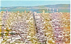 San Francisco CA Panorama Postcard p1586 (Image1)