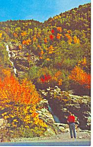 Silver Cascade  Crawford Notch  NH  Postcard p15876 (Image1)