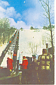 Skimobiles South Slope Mt Cranmore Nh Postcard P15891