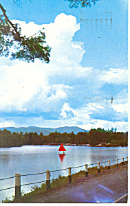 Chase Pond, Andover New London, NH Postcard 1974 (Image1)