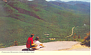 Franconia Mountains NH Postcard (Image1)