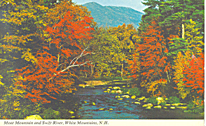 Moat Mountain and Swift River, NH Postcard (Image1)