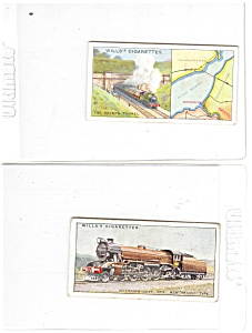 Will's Cigarette Cards-steam Trains-lot (2)