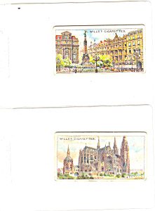 Will's Cigarette Cards-Belgian Bldgs-Lot (2) (Image1)
