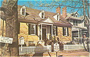 Fredericksburg VA Rising Sun Tavern Postcard p1600 (Image1)