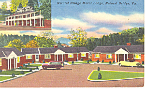 Natural Bridge Motor Lodge, Virginia Postcard Cars 50s (Image1)