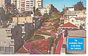 San Francisco,CA, Lombard Street Postcard 1967 (Image1)