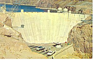 Boulder Dam,AZ,NV , Postcard 1964 Cars 50s (Image1)