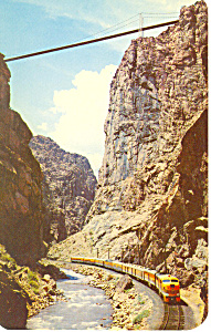 Denver Rio Grande Train in Royal Gorge Postcard p16067 (Image1)