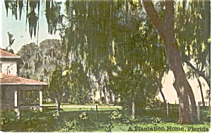 Florida Plantation Home Postcard p1606 (Image1)