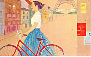 TWA Airline Issue Jetstream Mural Paris Postcard p16070 (Image1)